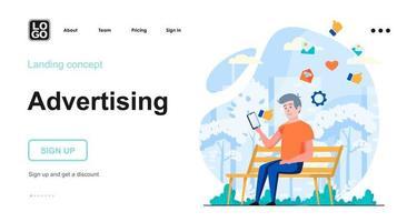 Advertising web concept vector