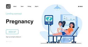 Pregnancy web concept vector