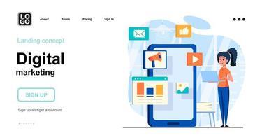 Digital marketing web concept vector