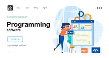 Programming software web concept vector