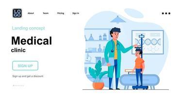 Medical clinic web concept vector