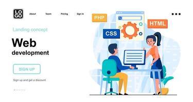 Web development web concept vector