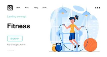 Fitness web concept vector