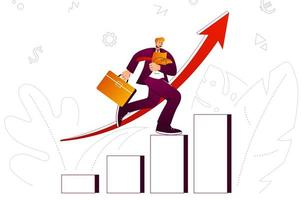 Growth business web concept vector