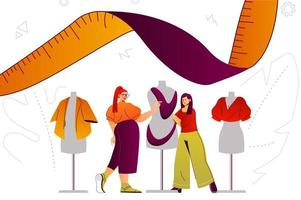 Clothes designer studio web concept vector