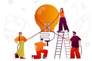 Big idea and innovations web concept vector