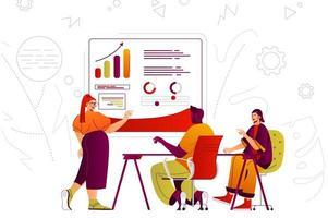 concepto de web de reunión de negocios vector