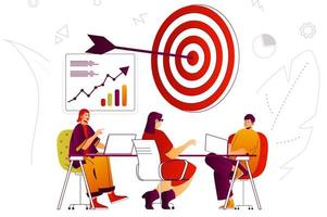 Business strategy web concept vector