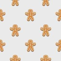Gingerbread man. Christmas cookies. Seamless pattern background. vector