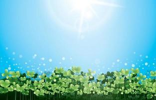 Green Clover Field Background Concept vector