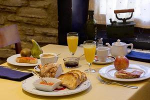 Typical Spanish breakfast photo