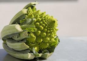 Magnificent vegetable, the romanesco cauliflower, Madrid Spain photo