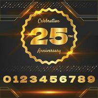 Luxury Gold Anniversary Badges Concept vector