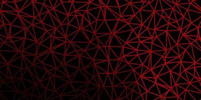Dark green, red vector triangle mosaic backdrop.