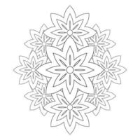 coloring book page. flower petals illustration vector