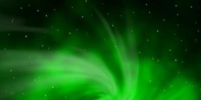 Dark Green vector texture with beautiful stars.