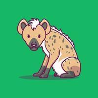 Cute cartoon hyena vector