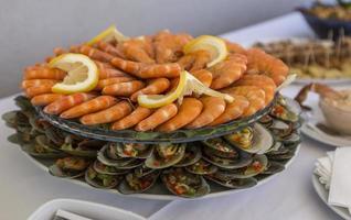 buffet de mariscos en portugal foto