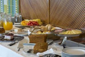 Breakfast buffet in a hotel in Portugal photo