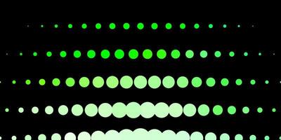 Dark Green vector template with circles.