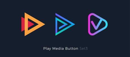 Play button foe media app vector