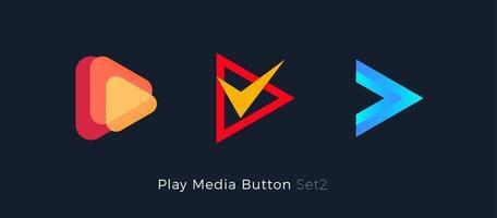 Multimedia player logo. vector