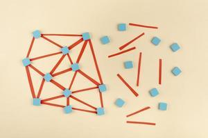 el concepto de red de alto ángulo con rosca foto