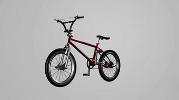 corrida de bicicleta moderna vermelha video
