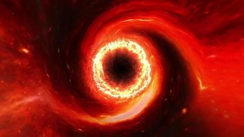 trou noir supermassif rouge lueur abstraite video