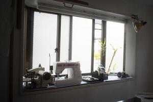 el taller de elementos de la máquina de coser foto