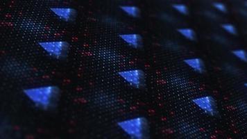 Blue Hi Tech Neon Light Ten Seconds Countdown Matrix video