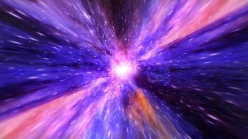 hyperspace interstellaire tunnel kleurrijke gloed video
