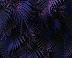 3d green palm leaves arrangement photo