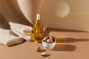 la composición natural del aceite de argán foto