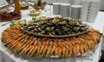 Buffet of sea food in Portugal photo