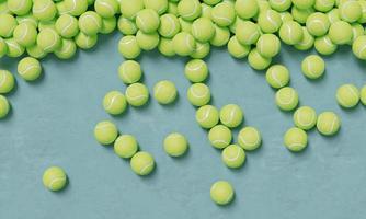 composición de la vista superior con pelotas de baloncesto foto