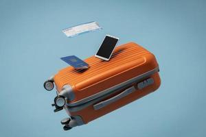concepto de viaje con pasaporte foto