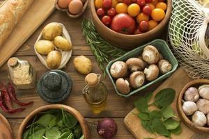 la composición diferentes ingredientes deliciosos foto