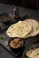 The delicious assortment nutritious roti photo