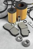 la composición de diferentes accesorios de coche. foto