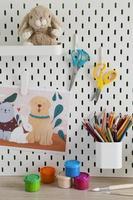 configuración de escritorio para niños de alto ángulo foto