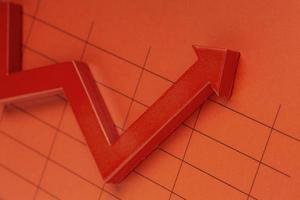 conjunto de presentación de estadísticas de vista superior foto