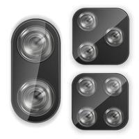 Realistic Lens Camera Smartphone Lens Camera Vector