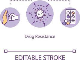 Drug resistance concept icon vector