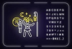 Samba neon light icon vector