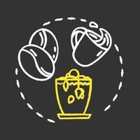 Dont tip tea chalk RGB color concept icon vector