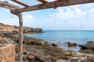 Formentera beach of Calo d es Mort in Balearic Islands photo