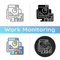 Cost management icon vector