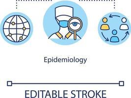 Epidemiology concept icon vector