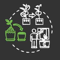 Dont move plants chalk RGB color concept icon vector